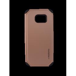Θήκη Backcover TPU + PC Samsung S7 Edge Χρυσή-Ροζ