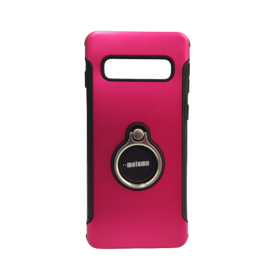Θήκη Backcover TPU + PC Samsung S10 Ροζ
