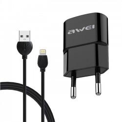 Φορτιστής AWEI για IPhone Λευκό-Μαύρο