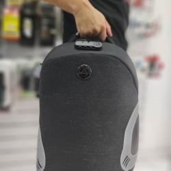 Backpack Antitheft με θύρα USB Mαύρο-Γκρι