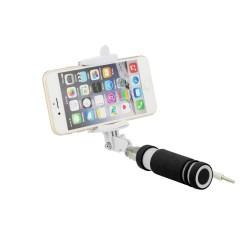 Blun Selfie Stick για Smartphone Cable Jack(3,5) Mαύρο