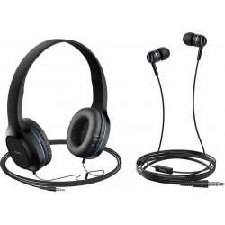 Headphones Hoco W24 Enlighten Blue + handsfree