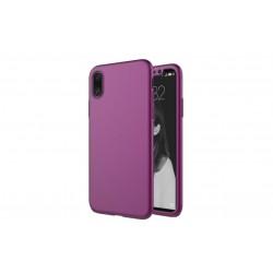 Θήκη iphone X/XS 360 Full body Σκληρή Πλαστική-Μωβ
